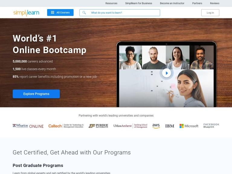 Simplilearn screenshot
