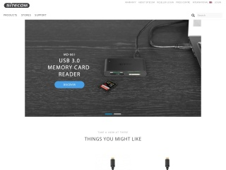 Screenshot do site sitecom.com