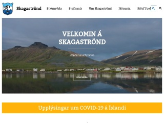 Screenshot for skagastrond.is