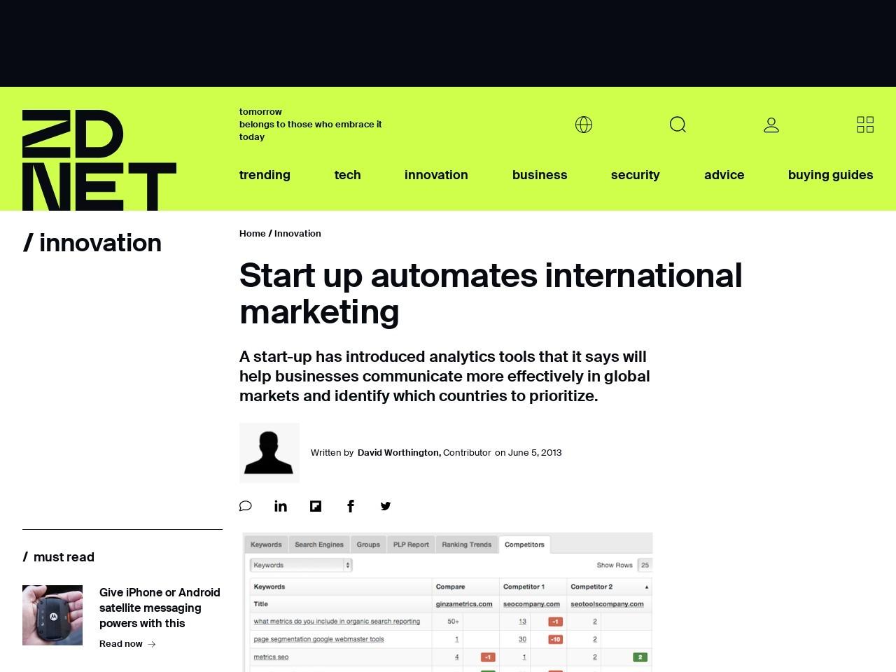 Start up automates international marketing   SmartPlanet