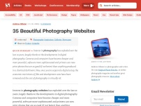 35 Beautiful Photography Websites