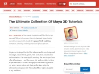 The Ultimate Collection Of Maya 3D Tutorials