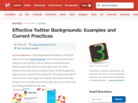 Effective Twitter Backgrounds: Examples and Current Practices
