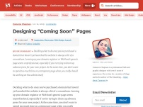 "Designing ""Coming Soon"" Pages"