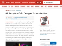 69 Sexy Portfolio Designs To Inspire You