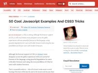 50 Brilliant CSS3/JavaScript Coding Techniques