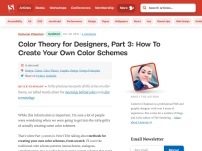 Color Theory for Designer, Part 3: Creating Your Own Color Palettes
