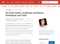 45 Fresh Useful JavaScript and jQuery Techniques and Tools