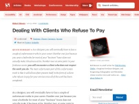 Dealing With Clients Who Refuse To Pay