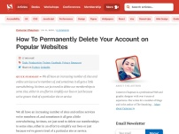 How To Permanently Delete Your Account on Popular Websites