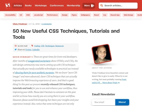 http://www.smashingmagazine.com/2010/10/12/50-new-useful-css-techniques-tutorials-and-tools/#more-9466