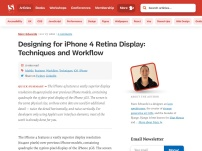 Designing for iPhone 4 Retina Display: Techniques and Workflow
