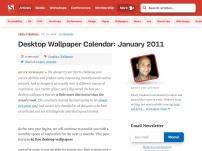 Desktop Wallpaper Calendar: January 2011