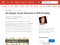 Freebie: Organic Vector Elements in EPS (80 Vector Files)