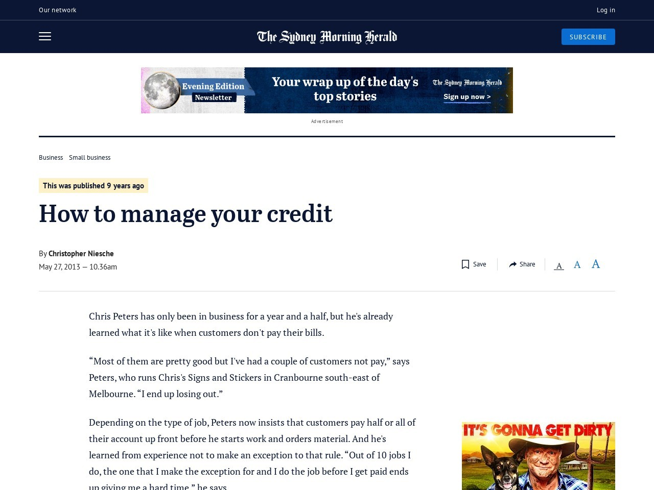 How to manage your credit
