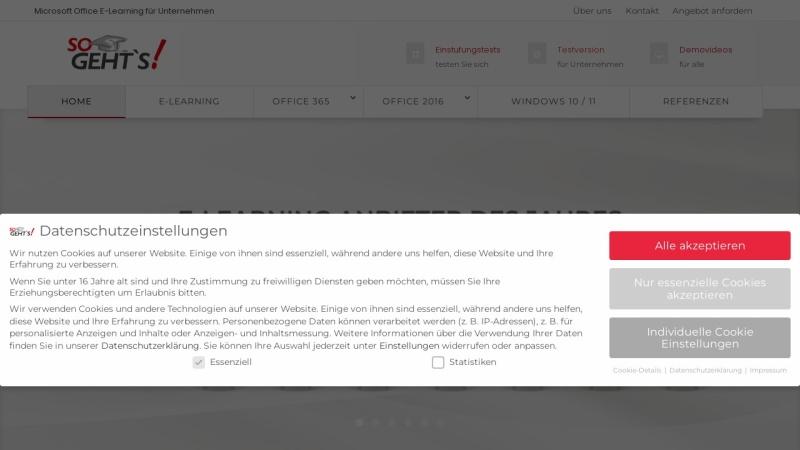 www.so-gehts.eu Vorschau, E-Learning für Microsoft Office 2007