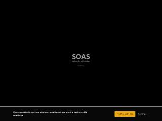 Screenshot for soas.ac.uk
