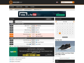 Screenshot for soccerway.com