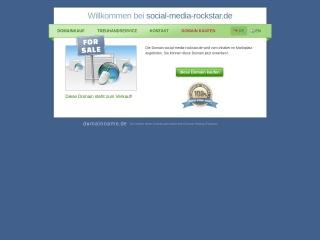 Screenshot der Website social-media-rockstar.de
