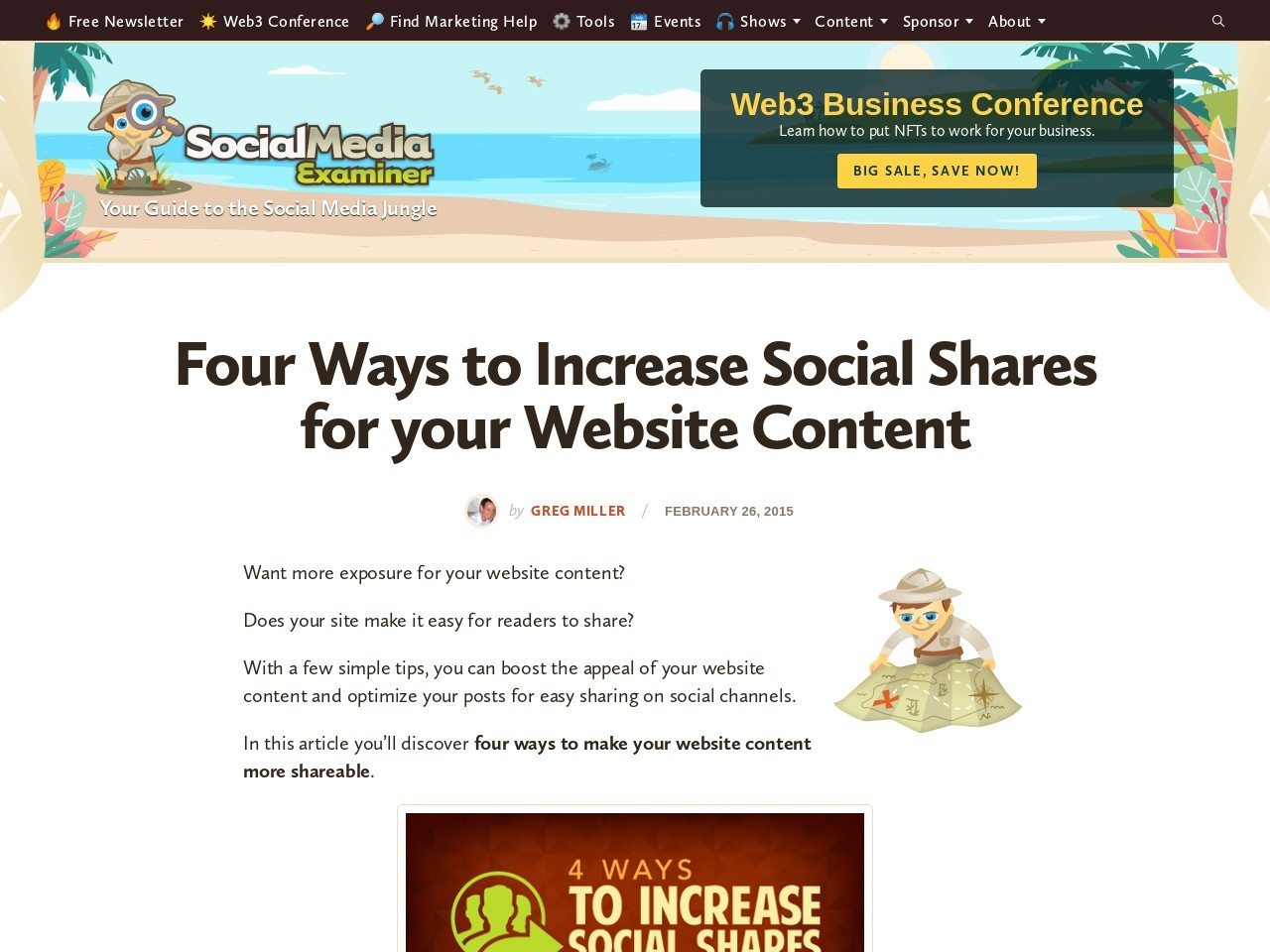 Four Ways to Increase Social Shares for your Website Content