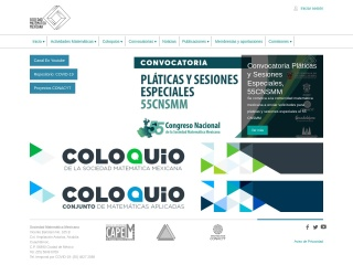 Captura de pantalla para sociedadmatematicamexicana.org.mx