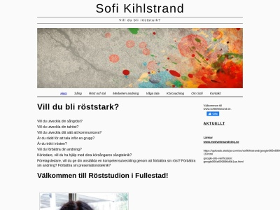 sofikihlstrand.se