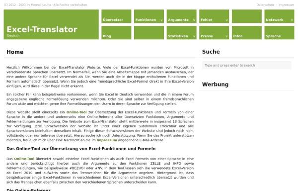 Vorschau von www.software.maninweb.de, Excel Software