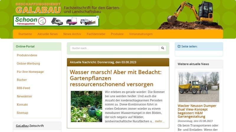 www.soll-galabau.de Vorschau, Beschaffungsdienst GalaBau