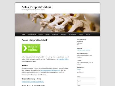 www.solnakiropraktorklinik.se