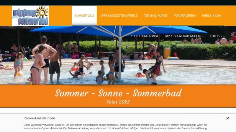www.sommerbadminden.de Vorschau, Sommerbad