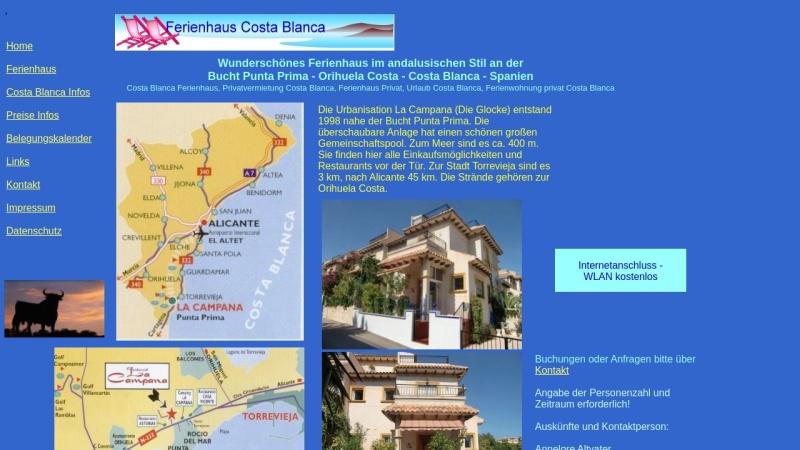 www.sonnenland-spanien.de Vorschau, Wunderschönes Ferienhaus im andalusischen Stil an der Costa Blanca