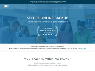Screenshot for sosonlinebackup.com