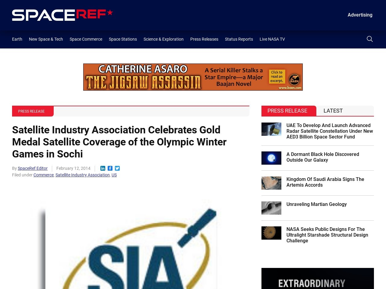Satellite Industry Association Celebrates Gold Medal Satellite Coverage of the …