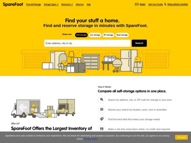 Sparefoot Storage screenshot
