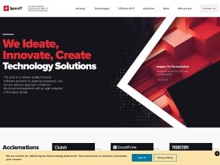Screenshot for sparxitsolutions.com