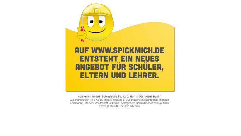 www.spickmich.de Vorschau, Spickmich.de