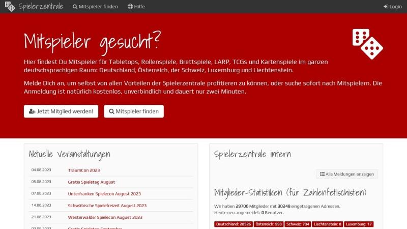 www.spielerzentrale.de Vorschau, Spielerzentrale.de