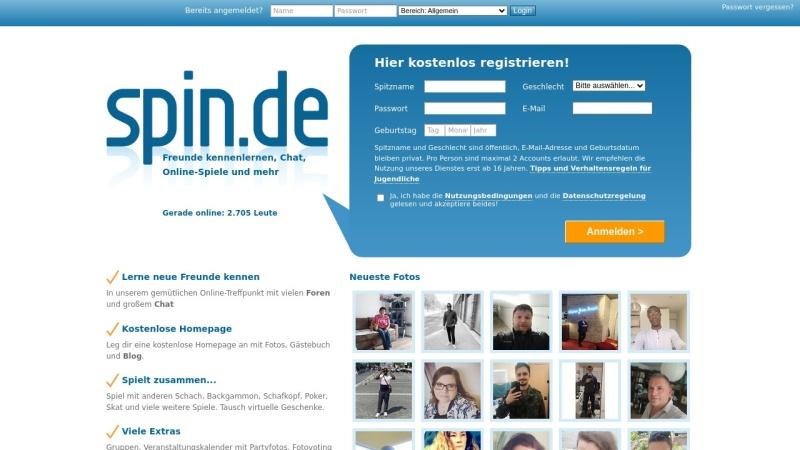 www.spin.de Vorschau, SpinChat