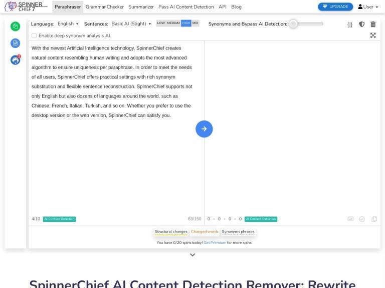 SpinnerChief Discount Codes screenshot