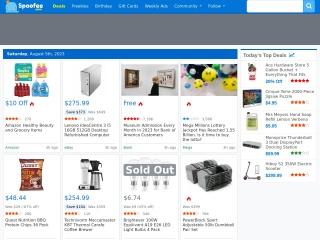Capture d'écran pour spoofee.com