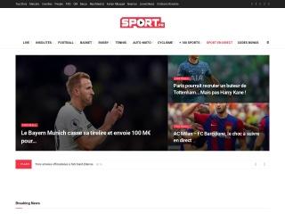 Capture d'écran pour sport.fr