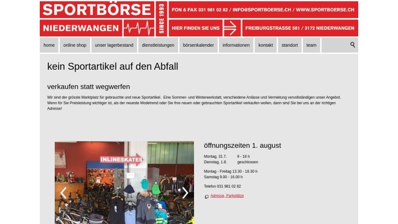 www.sportboerse.ch Vorschau, Sportbörse