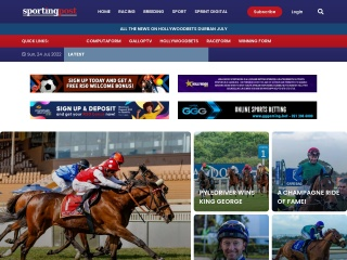 Screenshot for sportingpost.co.za