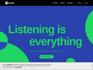 Foto ekrani për spotify.com
