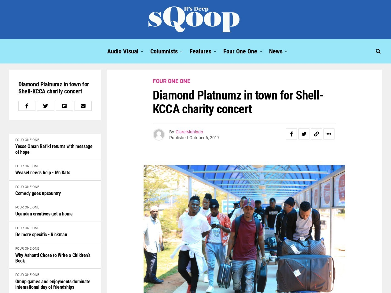 Diamond Platnumz in town for Shell-KCCA charity concert