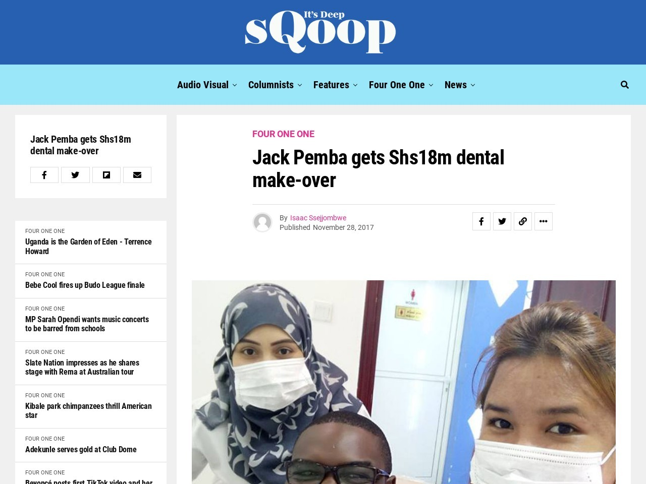 Jack Pemba gets Shs18m dental make-over