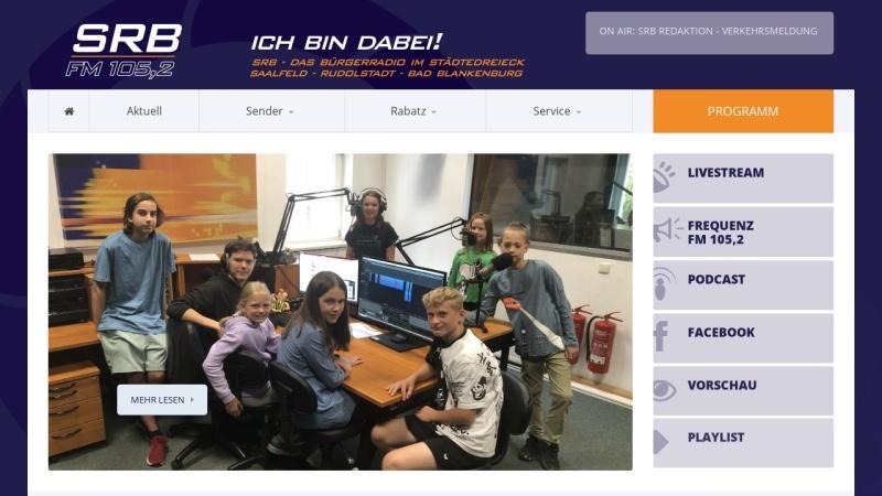 www.srb.fm Vorschau, SRB - Das Bürgerradio / Offener Kanal Saalfeld e.V.