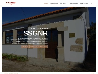 Screenshot do site ssgnr.pt
