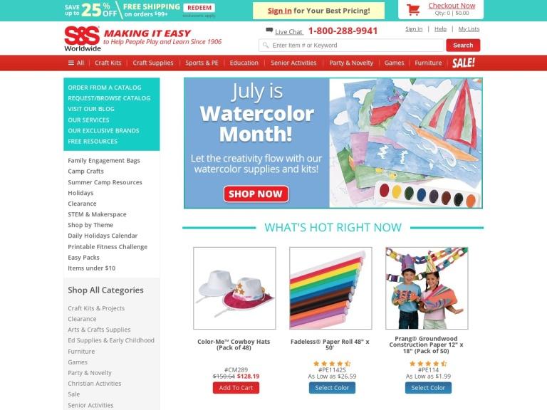 S&s Worldwide screenshot