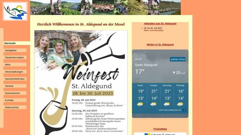 www.st-aldegund.de Vorschau, St. Aldegund an der Mosel